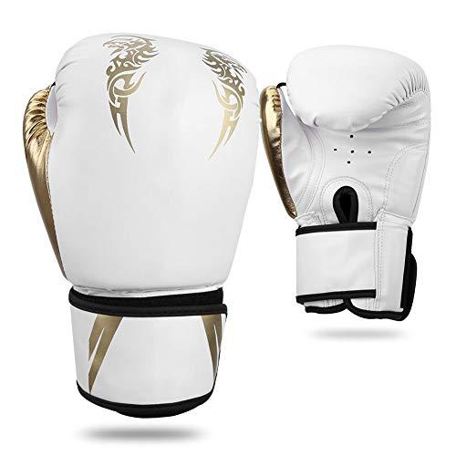 SANON Boxhandschuhe für Training, Kickboxen, Kampfsport, Fitness, Boxen, Sparring, Training, Boxsack, Kampfsport, Trainingshandschuhe für Damen und Herren, 1252759/120253AM104-688, weiß