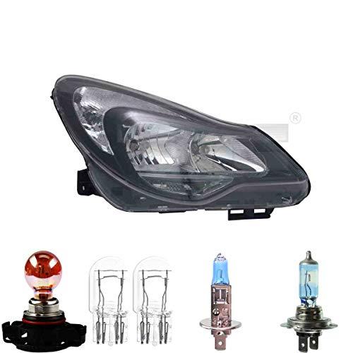 Scheinwerfer rechts Schwarz H1/H7/PSY24W für Corsa D inkl. Osram Lampen
