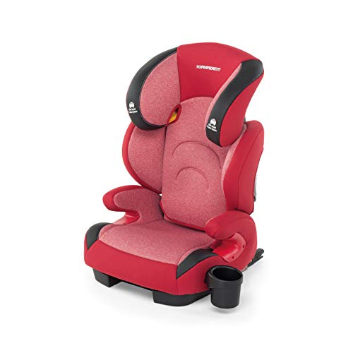 Foppapedretti Best duoFix Seggiolino Auto Omologato, Gruppo 2-3 (15-36 kg), per Bambini da 3 a 12 Anni, Cherry