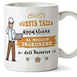 Mugffins Ingegnere Tazze Originali di caffè e Colazione da Regalare Lavoratori e Professionisti - Questa Tazza appartiene al Meglio Ingegnere dell'un
