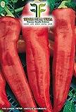 150 C.ca Semi Peperone Corno Di Toro Rosso - Capsicum annuum In Confezione Originale Prodotto in Italia - Peperoni rossi