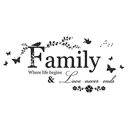 Kunst muurtattoo's kunst sticker applicatie wandafbeeldingen verschillende stijlen grappige humor waarderingen familie bloemen vlinder kunst vinyl aanbieding muurtattoos muurtattoos huishoudtextiel zwart