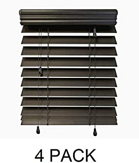 Home Decorators Collection Espresso 2-1/2 in. Premium Faux Wood Blind - 59 in. W x 64 in. L (Actual Size - 58.5 in. W x 64 L) (4 Pack)
