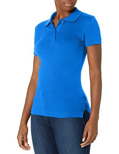 Lee Uniforms Juniors Stretch Pique Polo, Royal Blue, Medium