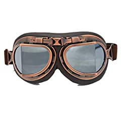[Comfortable to wear]: Sponge and leather materials, soft and comfortable. [Motorbike glasses Wraparound design]:Protect your eyes from sand, rain and bad weather. [UV protection] motorcycle glasses is Shatterproof One Piece Lens with UV Filter For M...