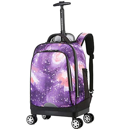 ZGRNB Trolley Rucksack girl boy Student Bags Kids School Travel Laptop Books Multifunction Wheeled Backpack Luggage 4 wheels