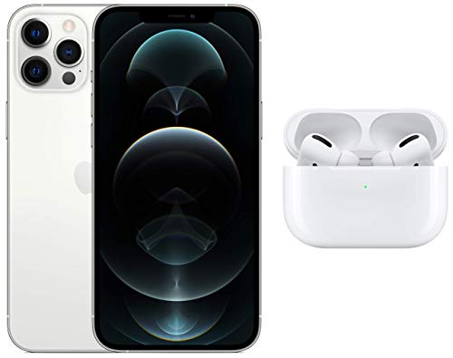 New Apple iPhone 12 Pro Max (256GB) - Silver with Apple AirPods Pro