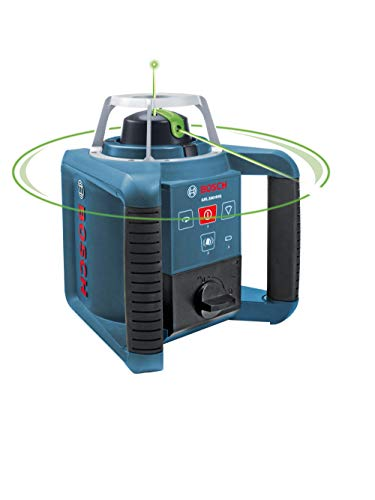 BOSCH Self-Leveling Green Rotary Laser with Layout Beam GRL300HVG , Blue