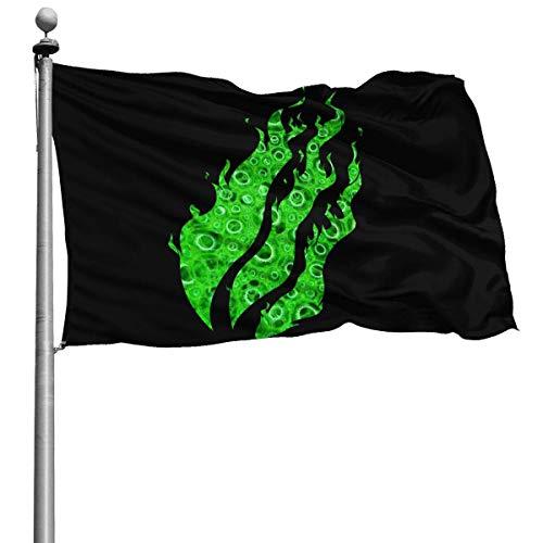 If Nothing Green Slime Preston Feuer Nation Playz Gamer Flamme Flagge Indoor Outdoor Garten Flagge Flagge 4x6 Fuß