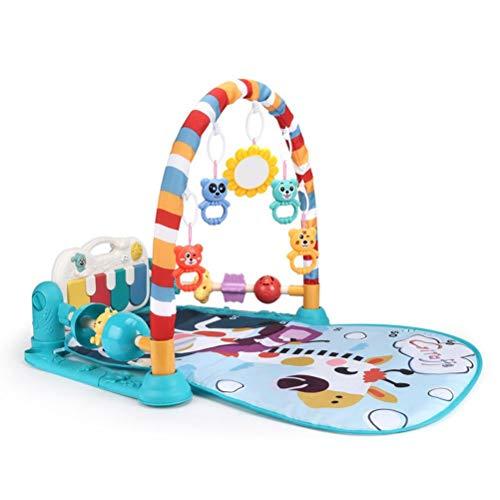 Alfombrilla de juego para bebé, con piano y centro de actividad, con pedal de música, luces y sonidos para bebés