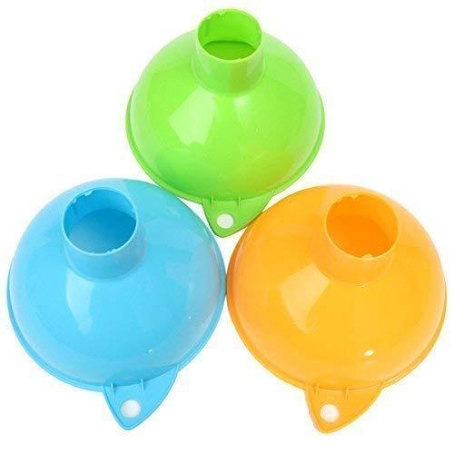 Embudo de plástico para el hogar de boca ancha grande herramienta de llenado de vino, embudo de enlatado, aceite líquido, agua de cocina, herramienta de barbería, color al azar