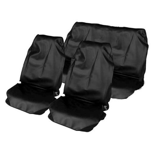 Set in zwart zeer goede kwaliteit voor achter stoelhoezen zitbescherming waterdicht 107