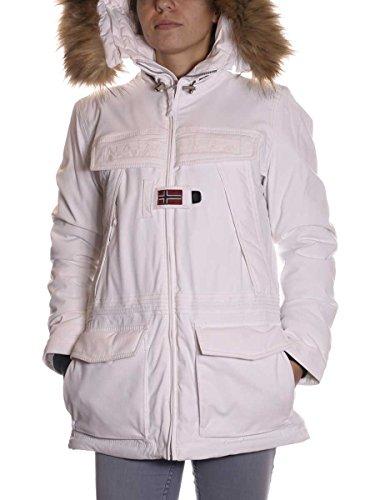 NAPAPIJRI Giaccone Skidoo Open Donna 028-White (Bianco), XL MainApps