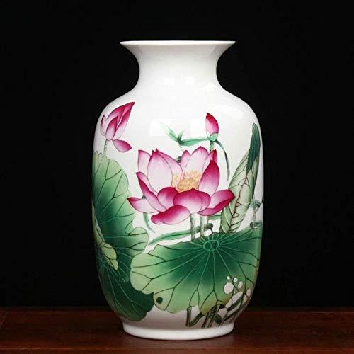 GBLight Vaas Porselein Chinese Bloem Verschillende karakteristieken Prachtige Accent Stuk Kamer Thuis Ornamenten Pastel Porselein 31x19cm