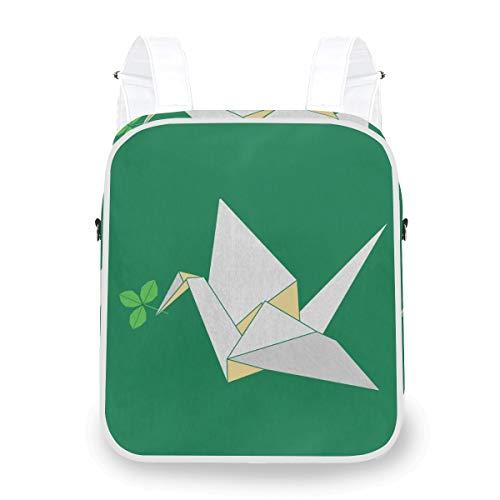 Damen Dual-Purpose Rucksack, Origami Cranes Papier Umhängetasche Mini Rucksack