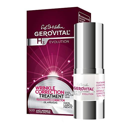 Gerovital H3 Evolution, TRATTAMENTO CORRETTORE RUGHE – occhi, labbra, fronte per pelle secca, disidratata e matura, 15 ml
