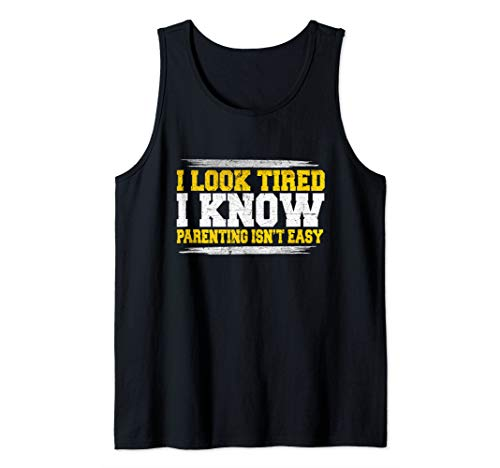 Delightful Tired Parenting Quote Artwork Tank Top