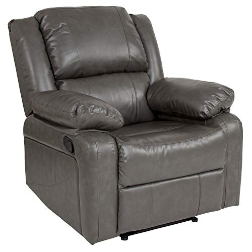 Flash Furniture Harmony Series Gray LeatherSoft Recliner