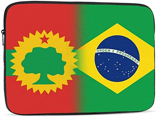 Flag of The Oromo Liberation Front&Armenia Laptop Sleeve Bag Compatible with 10-17 Inch Fashion Computer Bag Laptop Case-Flag Of The Oromo Liberation Front&Brazilian,10inch
