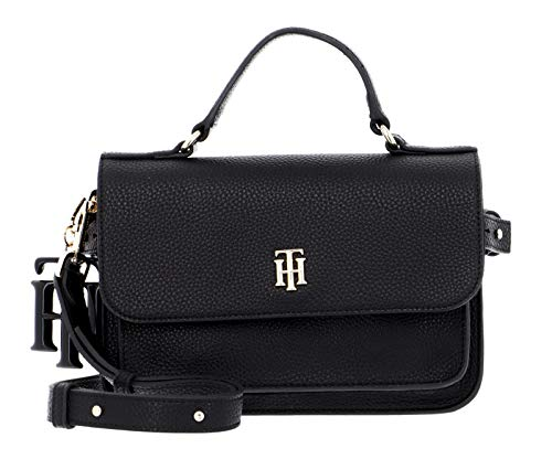 Tommy Hilfiger Women's TH Soft Bag, Black, One Size