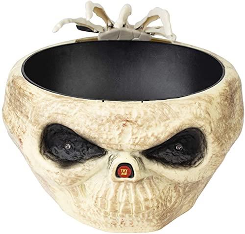 Plato de Cuenco de Dulces de Halloween con Accesorios de decoración Espeluznante de Mano Animada DIRIGIÓ Sonidos DE Ojos para LA CASA HUNUNDED Decoración de la Mesa del Bar del Partido Horror