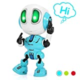 LET'S GO! Fun Toys for 3-12 Year Old Boys Girls,Talking Robot for Kids LED Colorful Flash Eyes Cool Toys Pre-Kindergarten Educational Toys for Autistic Kids Gift for Age 4-10 Toddlers Xmas Gifts(Blue)