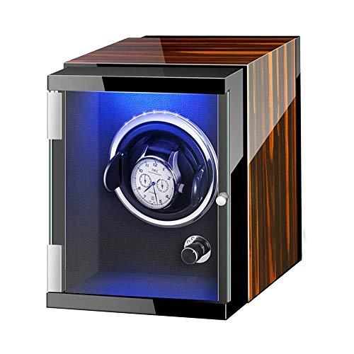 XIUWOUG Caja de almacenamiento automática con luces de colores, fuente de alimentación dual flexible, motor silencioso (color: A)