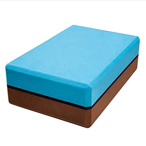 Pumprout Bloque de Yoga Accesorios de Yoga compresivo Conjunto de Correa de Yoga Bicolor Equipo de Ladrillos de Fitness para Culturismo