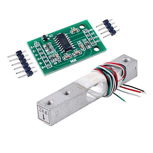 2 kg Sensor de peso Celda de carga Báscula electrónica de cocina + HX711 AD Módulo de pesaje para Arduino WIshiot