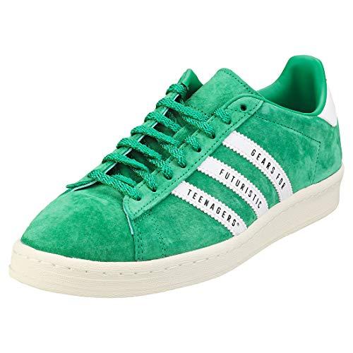 adidas Campus Human Made - Zapatillas de piel auténtica para hombre, color verde, color Verde, talla 42 EU