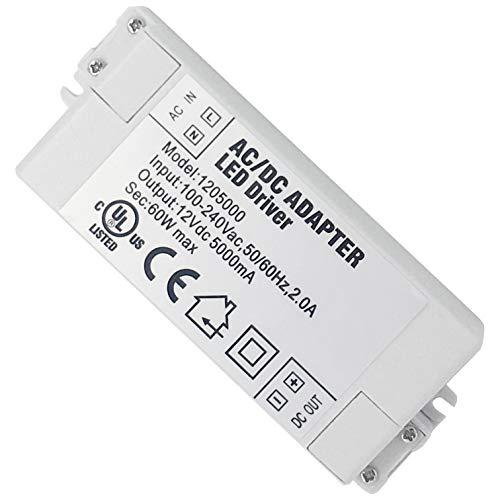 VARICART IP44 12V 5A 60W LED Treiber, Universal Reguliertes AC DC Schaltnetzteil, Konstanter Spannungswandler Adapter für CCTV Kamera Neonleuchte G4 MR11 MR16 GU5.3 Glühbirne (1-er Packung)