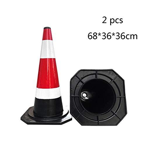 AJZXHE Warnkegel Warnkegel, Sicherheitskegel, Verkehrssicherheit Kegel Verkehrszeichen 2 * Sicherheitsschranken (Size : 68 * 36 * 36cm)