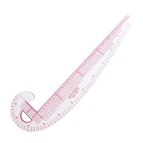 Nrew Regla de Costura de Curva Francesa de plástico, Regla de Sastre para medir, Hacer Ropa Transparente