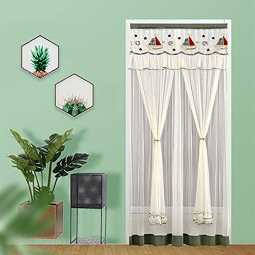 QREA Mosquitera para puerta de 100 x 220 cm, cortina de malla reforzada para patio, balcón, sala de estar, fácil de instalar # 120 x 200 cm