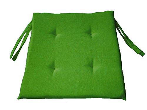 LI.G. ZA412 Cuscino Sedia Cucina ARREDO Quadrato 38x38H3 in Cotone Panama Vari Colori (Verde Acido)