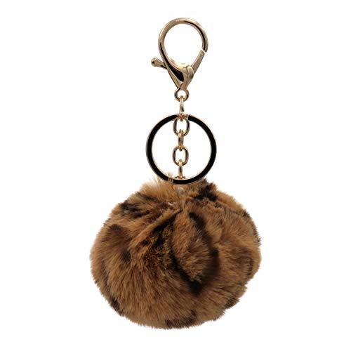 Real Sic Llavero con pompón – piel sintética para niñas y mujeres, mochila de regalo - - Medium