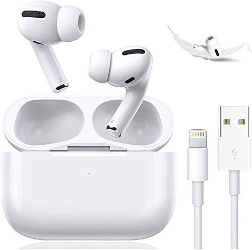 Auriculares inalámbricos Bluetooth 5.0 HiFi estéreo, IPX5, impermeables, con doble micrófono, cancelación de ruido, control táctil, auriculares inalámbricos, para Airpods, iPhone, Apple Android