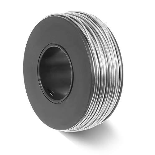 Phoetya - Alambre de aluminio para manualidades, 1,0/1,5/2,0/3,0 mm, alambre de plata para manualidades y esculturas de bricolaje, modelo floral (3,0 mm)