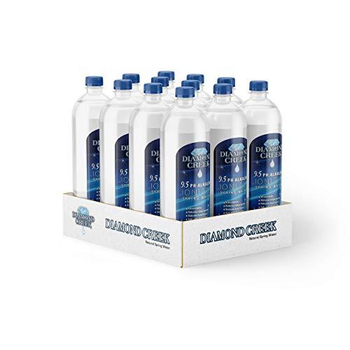 Bottled Alkaline Water by Diamond Creek – Alkaline Water 12 Pack – 500ML Ionized Alkaline Bottled Water – Ionized 9.5pH Alkaline Natural Spring Water (Pack of 12)