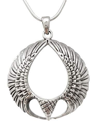 TreasureBay Colgante de pájaro detallado de plata de ley 925, colgante para hombre y mujer.