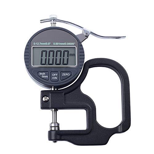 Micrómetro digital de acero inoxidable de 0 a 10 mm, precisión de 0,01 a 0,001 mm, micrómetro externo, para papel, goma, tela, metal, hoja de vidrio y cuero