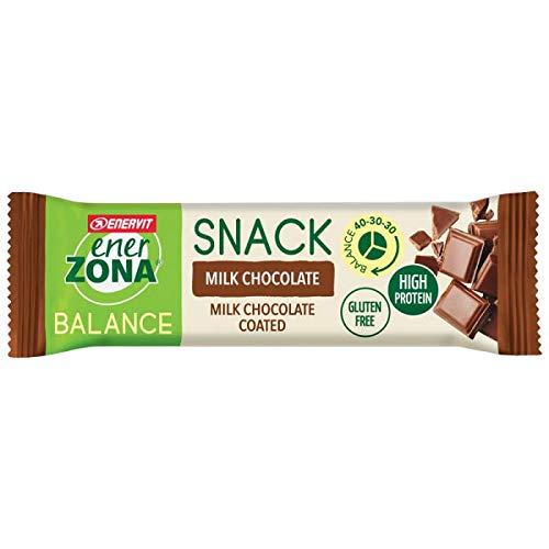 Enerzona Snack 40-30-30 Confezione da 30 Barrette Gusto Milk Chocolate