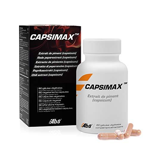 CAPSIMAX * 315 mg / 60 capsule * Peso (bruciagrassi, dimagrimento) * 100% soddisfatti o rimborsati * Fabbricato in Francia