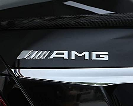 Coolsport Car Emblems Decal Badge Metal Labeling Car Stickers Fit Benz AMG Accessory Grille Decal 1pc