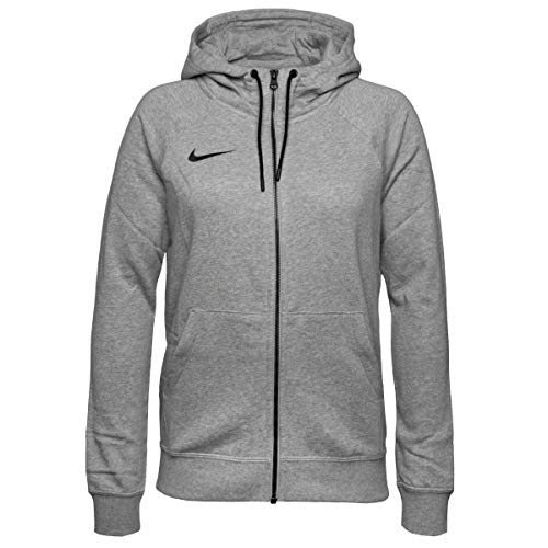 Nike Damen Women's Team Club 20 Full-Zip Hoodie Sport Jacken, DK Grey Heather/Black/Black, XL