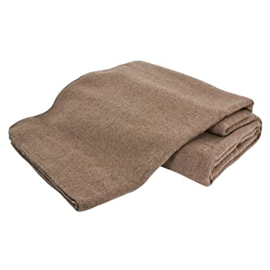 Creswick Australian Mills Hobart Machine Washable Australian Wool Blend Blanket, King, Hazel