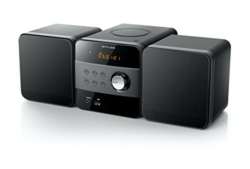 Muse M-57 BT Micro System System System (CD/MP3/USB/Bluetooth/equalizer/AUX-In/afstandsbediening) zwart