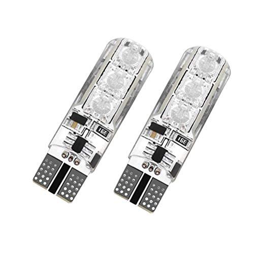 Lanbowo 1 Paire T10 5050 télécommande de Voiture Ampoule LED 6 SMD Multicolore RVB côté Ampoules