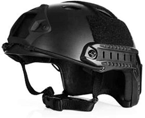 Coole atletiek Combat 600D Oxford Military Tactical Vest Molle Airsoft Tactical Helm Army vest CS jacht vestzak aanval training voertuig board hjm zhanshubeixin (Color : Black Helmet)