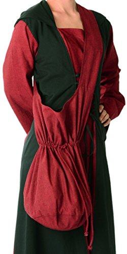 HEMAD Mittelalter Tasche Baumwolle dunkelrot Mittelalterliche Kleidung